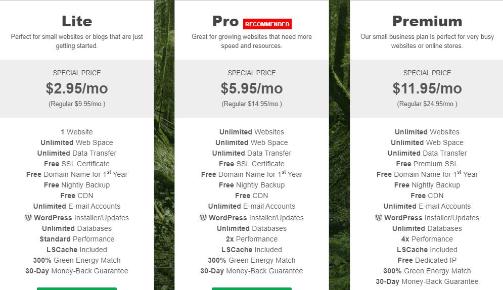 greengeeks-pricing-plans