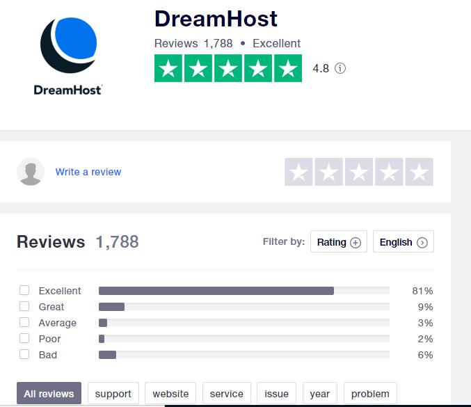dreamhost-trustpilot